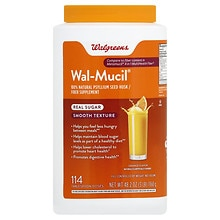 Walgreens Wal-Mucil 100% Natural Fiber Bulk Forming Fiber Laxative/Dietary Supplement Powd