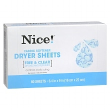 Nice! Fabric Softener Sheets Free & Clear
