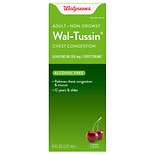 Walgreens Wal-Tussin Chest Congestion Liquid for Adults Cherry Flavor