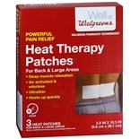 Walgreens Heat Therapy Patches Back Back & Large Areas