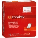 Walgreens Certainty Underpads 30 x 36 inch Super Plus Absorbency