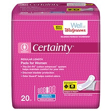 Walgreens Certainty Pads for Women, Moderate Absorbency