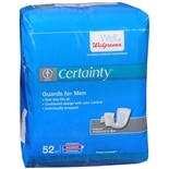 Walgreens Certainty Bladder Protection Guards for Men Extra Absorbency