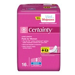 Walgreens Certainty Pads for Women Long, Moderate Absorbency
