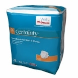 Walgreens Certainty Fitted Briefs Size X-Large