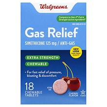 Gas Relief Chewable Tablets Extra Strength, Cherry Creme Flavor