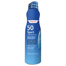 Walgreens Sport Sunscreen Continuous Spray, SPF 50