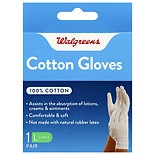 Walgreens 100% Cotton Gloves Large
