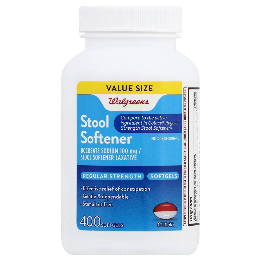 Walgreens Stool Softener 100 Mg Softgels Walgreens