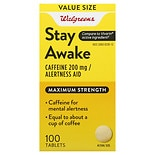 Walgreens Stay Awake Caffeine Tablets Maximum Strength