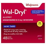 Walgreens Wal-Dryl Allergy Relief, Coated Mini Tabs