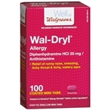 Walgreens Wal-Dryl Allergy Relief, Coated Mini Tabs Coated Minitabs