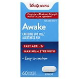 Walgreens Awake Alertness Aid Caplets Maximum Strength