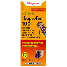 Walgreens Children's Ibuprofen 100 mg Oral Suspension Grape