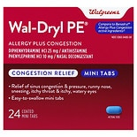 Walgreens Wal-Dryl-D Allergy & Sinus Relief, Mini Tabs Tablets