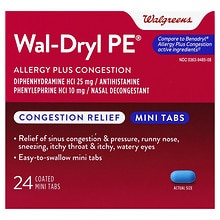 Wal-Dryl-D Allergy & Sinus Relief, Mini Tabs