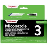 Walgreens Miconazole 3 Vaginal Antifungal Combination Pack