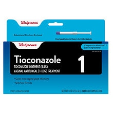 Walgreens Tioconazole 1 Vaginal Antifungal 1-Dose Treatment