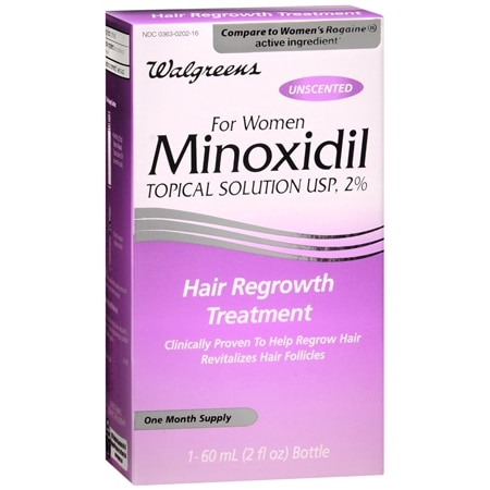 Walgreens Minoxidil 2% Hair Regrowth Treatment Topical Solution for Women