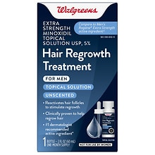 Walgreens Minoxidil 5% Hair Regrowth Treatment Unscented