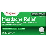Walgreens Headache Relief Tablets Analgesic Tablets
