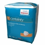 Walgreens Certainty Fitted Briefs Size Medium