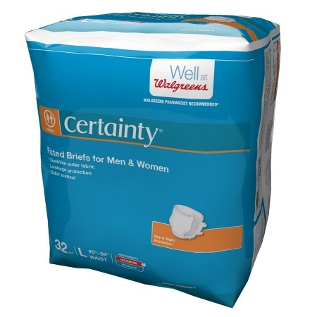 Walgreens Certainty Fitted Briefs Maximum Absorbency Large