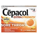 Cepacol Sore Throat Pain Relief Lozenges Honey Lemon