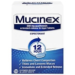 Mucinex 12 Hour Expectorant Extended-Release Bi-Layer Tablets