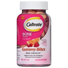 Caltrate Calcium & Vitamin D3 Supplement Gummy Bites Assorted Flavors