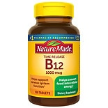 Nature Made B-12 Vitamin 1000 mcg Dietary Supplement Tablets Timed Release