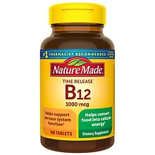 B-12 Vitamin 1000 mcg Dietary Supplement Tablets, Timed Release