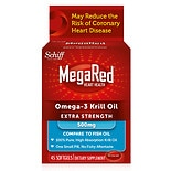 Schiff MegaRed MegaRed 100% Pure Omega-3 Krill Oil 500 mg Dietary Supplement Softgels