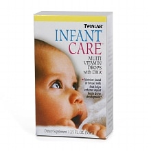 Twinlab Infant Care Multivitamin Dietary Supplement Drops with DHA