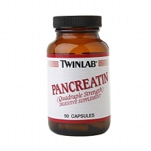 Twinlab Pancreatin Quadruple Strength Digestive Supplement Capsules