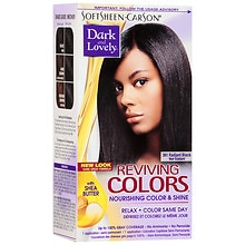 Dark and Lovely Relax & Color Same Day Semi-Permanent Haircolor 391 Radiant Black