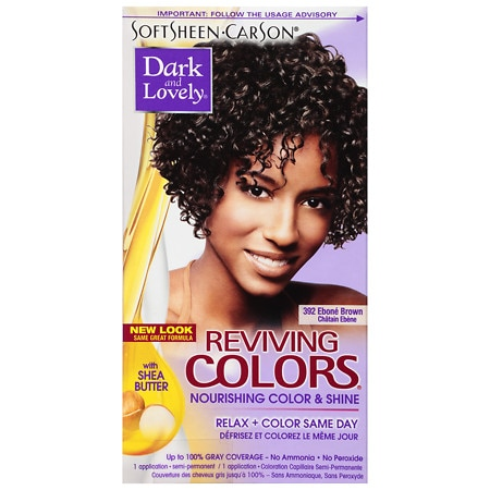 Dark and Lovely Reviving Colors Semi-Permanent Haircolor 392 Ebone Brown