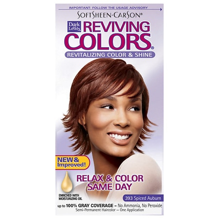 Dark and Lovely Reviving Colors Semi-Permanent Haircolor 393 Spiced Auburn