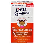 Little Remedies Infant Fever/Pain Reliever Acetaminophen, Dye-Free Natural Berry Flavor