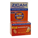 Zicam Ultra Cold Remedy Bi-Layer RapidMelts Quick Dissolve Tablets Orange Cream Flavor