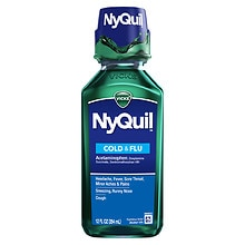NyQuil Cold & Flu Relief Liquid Original Flavor