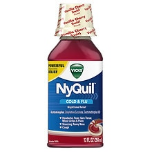 Vicks Nyquil Cold & Flu Relief Liquid Vanilla Cherry Swirl Flavor