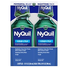 NyQuil Cold & Flu Relief Liquid 2 Pack Original Flavor