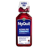 Vicks Nyquil Alcohol Free Cold & Flu Nighttime Relief Liquid Soothing Berry Flavor