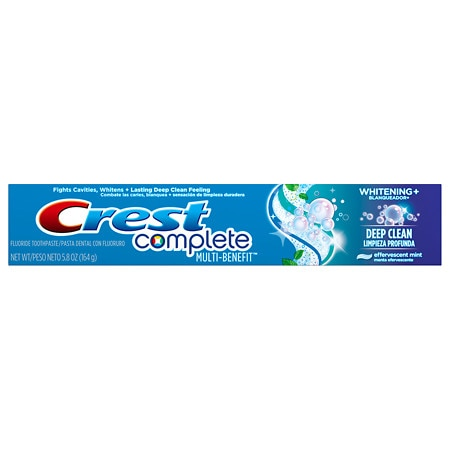 Crest Complete Multi-Benefit Toothpaste, Whitening Plus Deep Clean Effervescent Mint