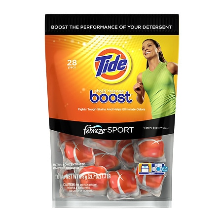 Tide Boost Stain Release with Febreze Sport In-Wash Laundry Booster Victory Boost
