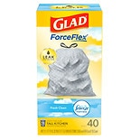 Glad Odor Shield Tall Kitchen Drawstring Trash-Garbage BagsFresh Clean White