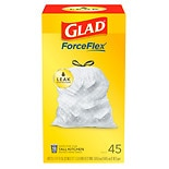 Glad Tall Kitchen Drawstring Trash-Garbage Bags White