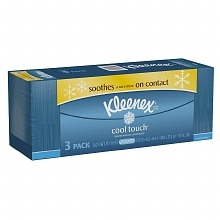 Cool Touch Facial Tissue, 3 Boxes