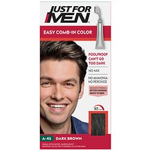 Just For Men AutoStop Foolproof Haircolor Dark Brown A-45